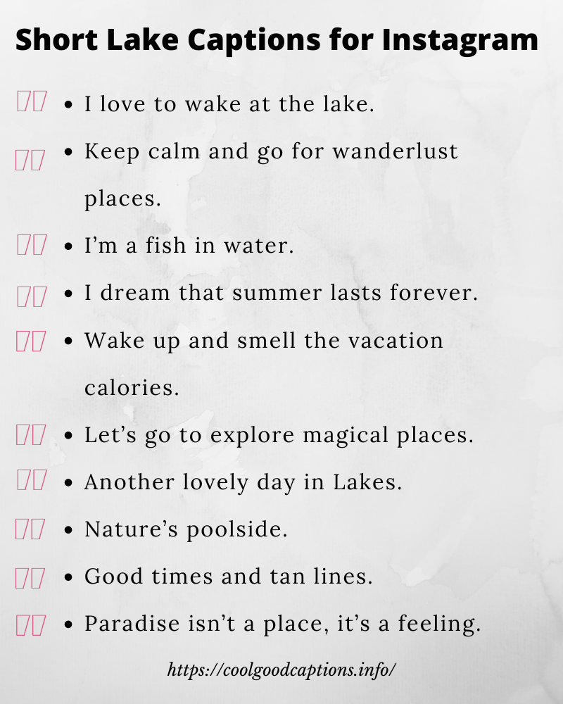 101+ Best Lake Captions for Instagram Pics: Vacation ...