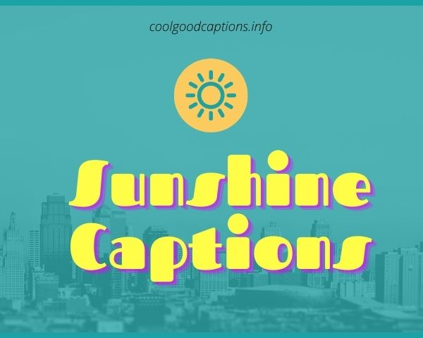 71 Best Sunshine Captions Sayings For Instagram Sunny Day Pics Want to find the best instagram captions? 71 best sunshine captions sayings